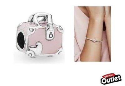 【全球購.COM】PANDORA 潘朵拉 琺瑯新款粉色旅行包串珠 925純銀 美國正品代購
