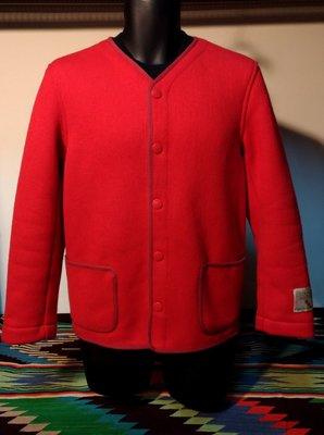 近全新日本製真品Browns Beach Jacket Collarless 紅色無領羊毛混紡復古工裝外套夾克 BBJ