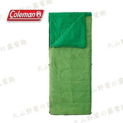 【大山野營】Coleman CM-27260 表演者II萊姆綠睡袋/C15 信封型睡袋 化纖睡袋 纖維睡袋