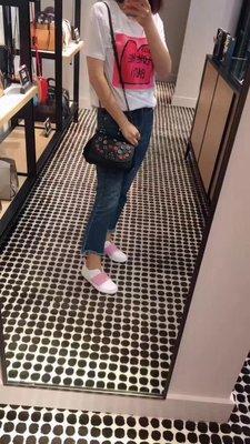 NaNa代購 COACH 59524 新款枊穗貼花鉻葇皮革DRIFTER 手提包 時尚精品 附購證 買即送禮