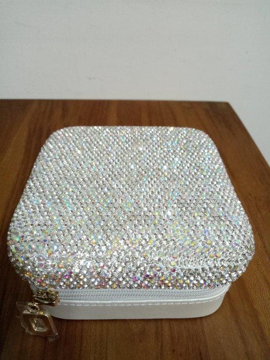 天使熊雜貨小舖~日本帶回水鑽首飾盒   收納盒 全新現貨