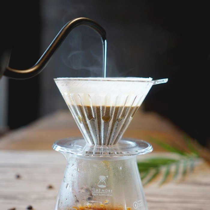 TIMEMORE泰摩冰瞳手沖咖啡套裝組-(玻璃分享壺360ml+PC濾杯01號1~2人份)