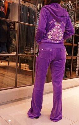 Juicy Couture Broach Original Jacket & Pants 水晶鑲繡 休閒套裝 紫 M