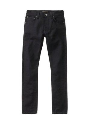 全新 NUDIE JEANS tilted tor dry cold black 黑彈性合身窄管丹寧褲30吋