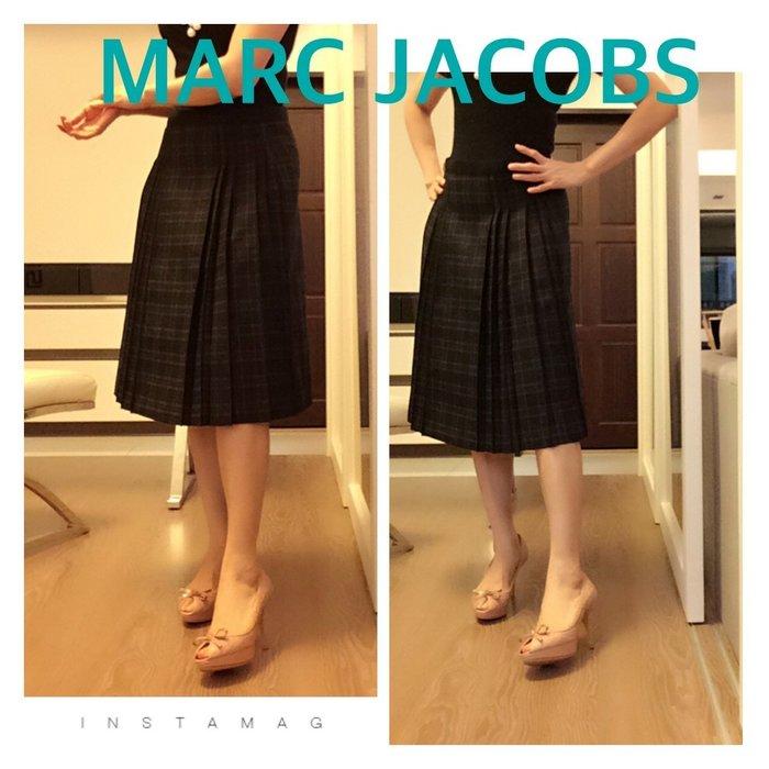 *Beauty*MARC JACOBS 黑灰色格紋及膝裙 2號