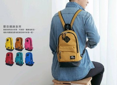 THE89 (9957901)夏日繽紛 單肩+後背包2用包 防潑水包 胸包 斜背包 側背包