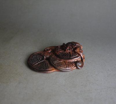 海南黃花梨 油梨 ~福在眼前 - 山水紋 紋理清晰 底色漂亮 全手工雕刻 **  585