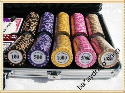 1630046 14克(歐.美.日.元)  鋁盒  籌碼  套裝   德州撲克籌碼  100/300/500 超值套裝