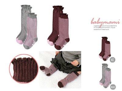 貝比幸福小舖【56323】日本進口COMBI紅系條紋圓點經典款襪子*紅組∕粉紅組~二入一組