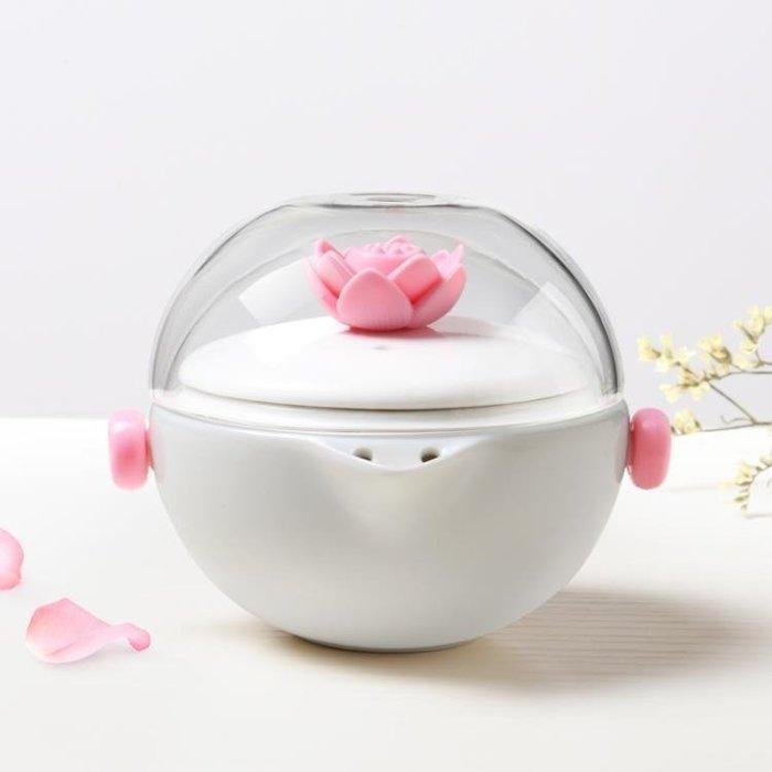 陶瓷快客杯一壺一杯便攜包式辦公旅行玻璃杯單人茶壺功夫茶具套裝