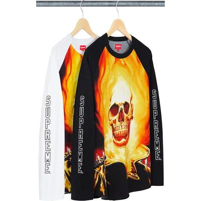 【紐約范特西】預購  Supreme SS19 Ghost Rider Raglan L/S Top 二色