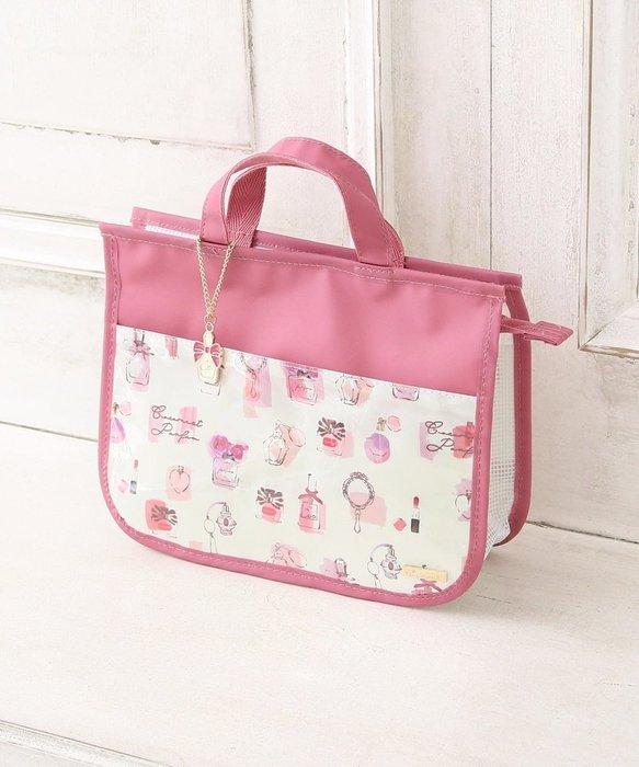【秘密閣樓】日本品牌 旅行防水盥洗包 化妝包 收納包 洗漱包  盥洗提袋 粉色 旅行收納 日本代購
