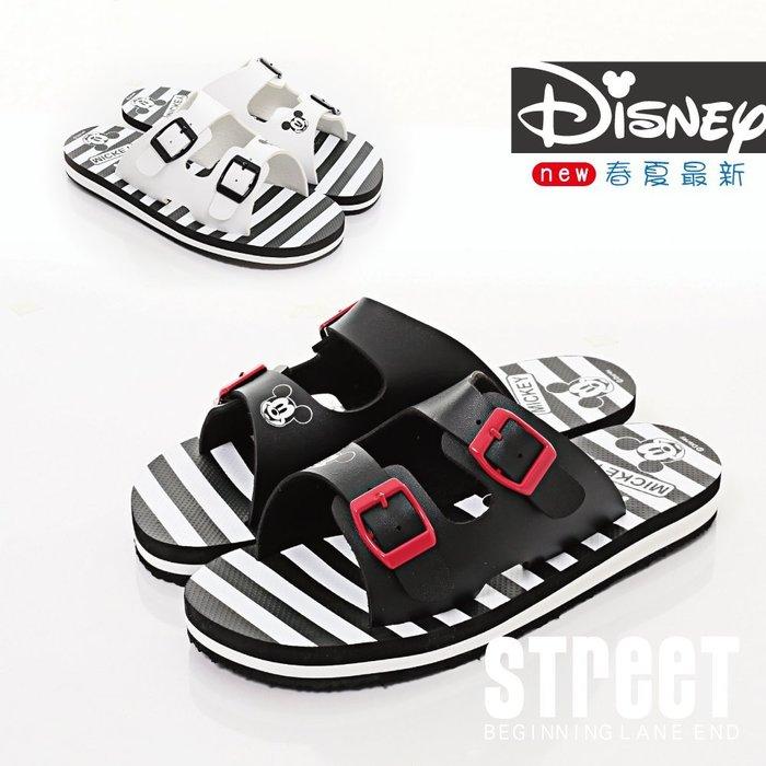 【街頭巷口 Street】迪士尼 Disney 米奇米妮 舒適好穿 親子鞋 成人涼拖鞋 KRM464717BK 黑色