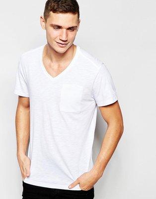 [G-Star T-Shirt V-Neck One Pocket in White] 白色 Size:XS