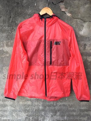 【Simple】NIKE WINGER JACKET-TRANSPARENT 防風外套 可收納方便攜帶 596296