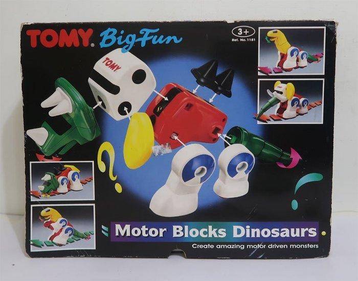 Tomy~motor blocks dinosaurs 電動恐龍組合積木(1993)