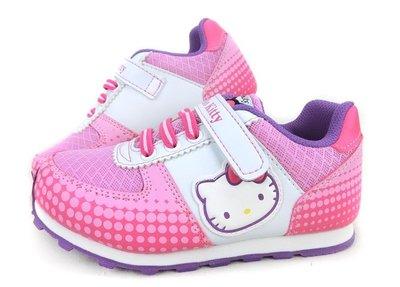 HELLO KITTY中童運動鞋 {台灣製造} 透氣戶外休閒鞋 G7843#粉~ 奧森童鞋 零碼出清