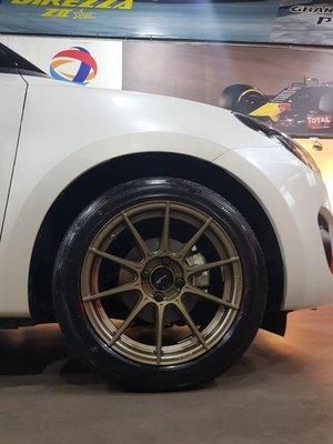 整組再優惠 土城輪胎王 DG FG06 16吋旋壓鋁圈 輕量 古銅 4/100 7.5J SWIFT