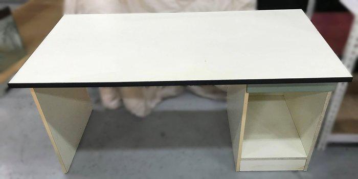 【宏品二手家具館】 2手家具賣場 E32007*白色一抽書桌*中古臥室家具拍賣 床組 床墊 床架 床板 床箱 床頭櫃