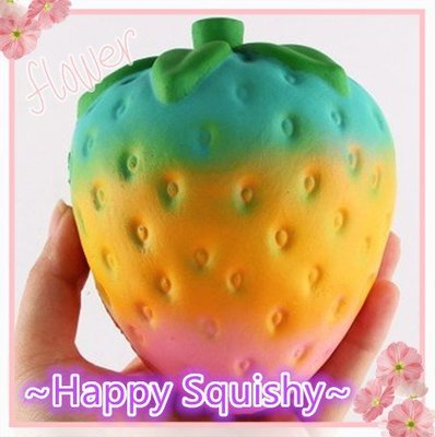 ~Happy Squishy~ 珍珠光大草莓Squishy/軟軟/減壓玩具/紓壓捏捏樂(慢回彈)