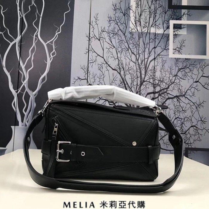 Melia 米莉亞代購 專售正品 2018ss 羅意威 LOEWE 單肩包 變形包 手提包 斜背包 黑色