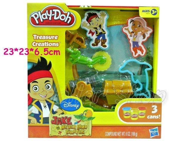 寶貝玩具屋二館☆【品牌】培樂多黏土---傑克與夢幻島海盜遊戲組
