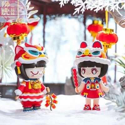 【憶美憶家生活館】Kimmy&Miki獅虎娃娃限定禮盒手辦潮玩新年禮物擺件可愛少女心套裝dfo950