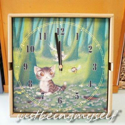 wachifield-dayan(瓦奇菲爾德,達)~全新非賣品貓咪美時鐘~森林小貓