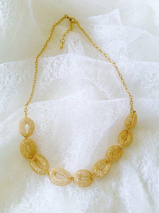 【Nie Sansa】現貨特價出清 超美款網狀無感水晶項鍊/金蔥項鍊/亮鑽項鍊/亮鑽項鍊/首飾/非金飾