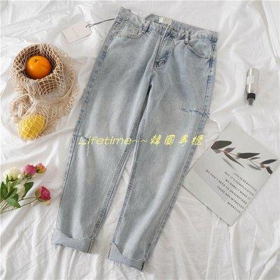 Lifetime~~韓國專櫃直筒牛仔褲...