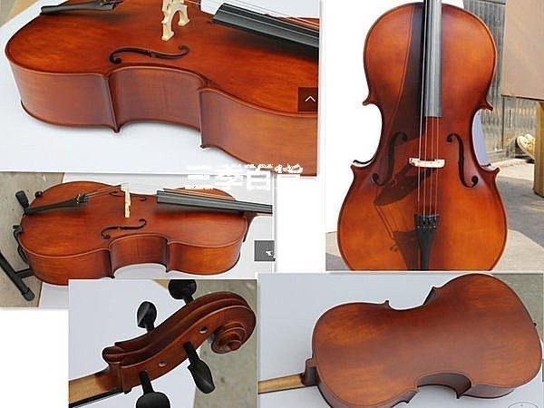 三季送座架琴包!意大利風格高檔亞光4分4成人兒童大提琴手工制作練習表演大提琴 高檔❖558