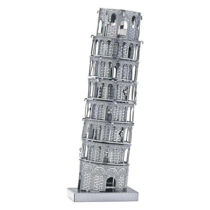 比薩斜塔兒童拼裝玩具3D立體拼圖男孩DIY益智模型生日禮物