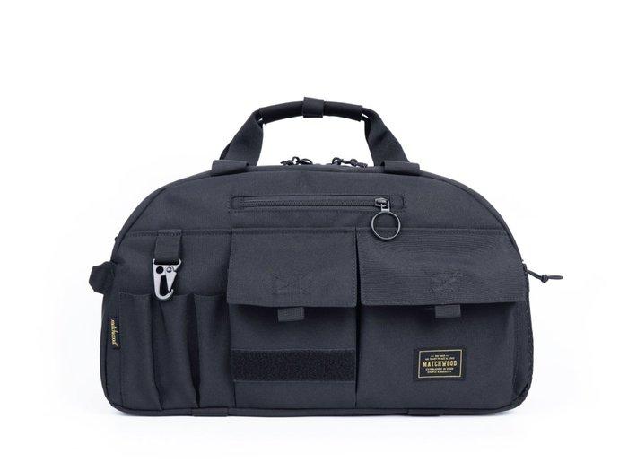 【Matchwood直營】Matchwood Boston 波士頓包 手提行李袋旅行包側背包 軍事黑款 開學限時優惠