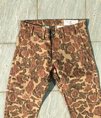 牛仔之星全新RGT Officer Trouser十週年限定款林地迷彩休閒褲美國製