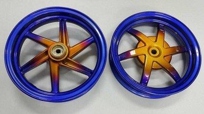 代客烤漆燒色類陽極色燒鈦合金螺絲色漸層高品質烤漆鍍鈦輪框 rpm 六爪 dio rszzero newcuxi
