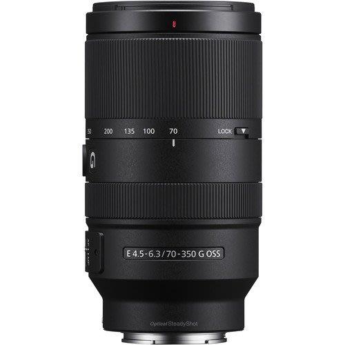SONY 70-350mm F4.5-6.3 SEL70350G 公司貨 APS-C 適 A6600 A6400 E接環