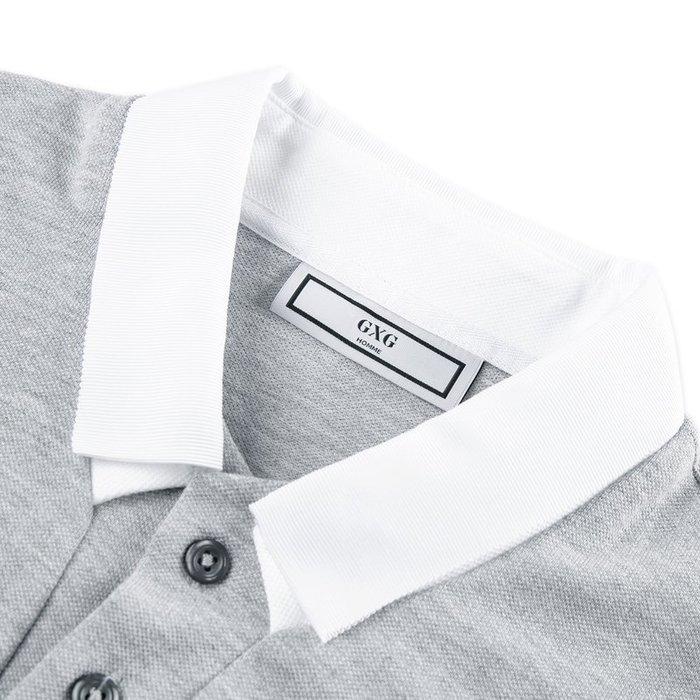 免運☆2019年夏灰色Polo衫翻領撞色短袖t恤時尚保羅衫潮☆新家居時代