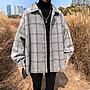 CPMAX 毛呢格子大衣外套 韓系小大衣 毛呢外套 外套 大衣 韓版大衣 男外套 男生衣著 格子大衣 毛呢大衣 C145