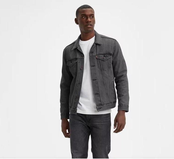 【XS-XXL號】美國LEVI S TRUCKER JACKET Buzz 仿舊水洗灰色 重磅 牛仔外套 夾克