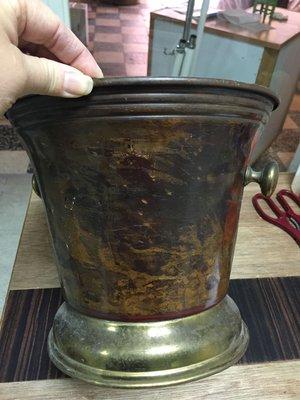 歐洲早期紅銅黃銅冰桶義大利製296