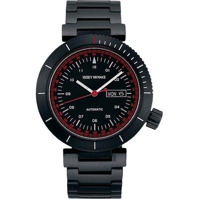 ISSEY MIYAKE 三宅一生W系列限定機械錶(NYAE701Y)-黑/45mm NH36-0010SD