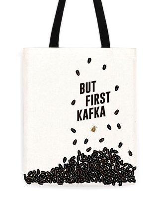 莉迪卡娜~美國Obvious State 來點卡夫卡咖啡帆布包文藝文學簡約設計單肩包
