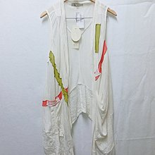 【Kstyle】精品店過季商品P&M--拼接蕾絲背心針織罩衫--米白色