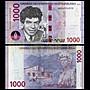 森羅本舖 現貨實拍 亞美尼亞 1000德拉姆 2018年 半塑料鈔 鈔票 紙鈔 外幣 鈔 雕像 紫色 五色錢
