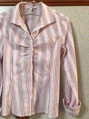 資源共享~Naracamicie 粉色條紋襯衫