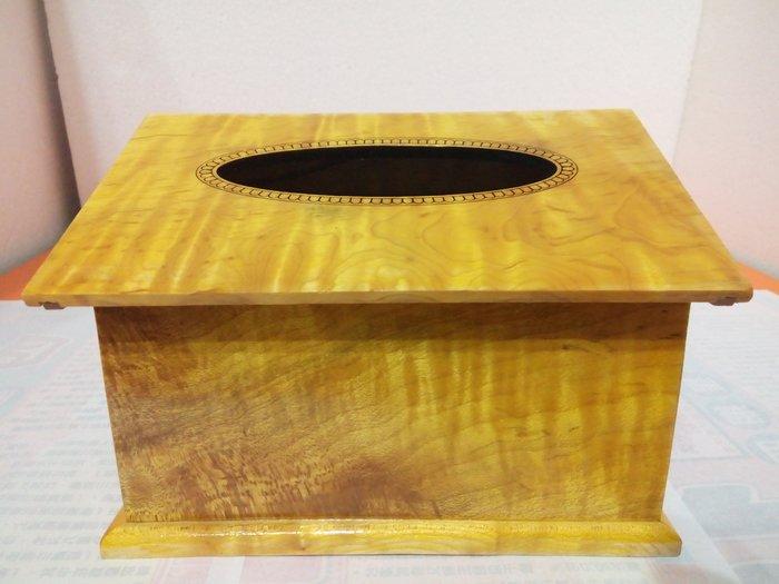 【九龍藝品】金絲楠木 ~ 房屋型面紙盒 ~