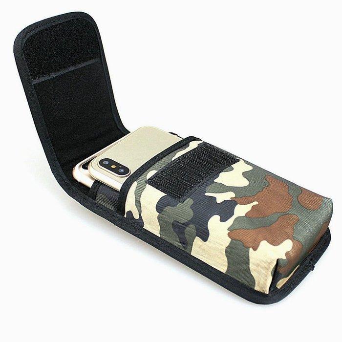 雙手機腰包蘋果7+ 6s可穿皮帶牛津布尼龍面料mate8豎款男士皮套迷彩