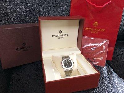 patek philippe pp 百達翡麗 金鷹 黑面 鋼帶 鋼錶帶 文錶 紳士 高檔