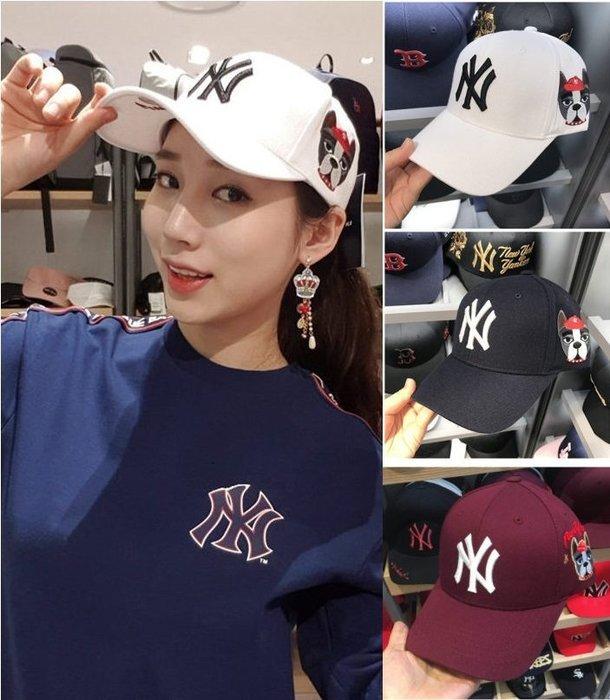 MLB 紐約洋基隊 小狗狗棒球帽 酒紅色、 白色&深藍色  現貨!!