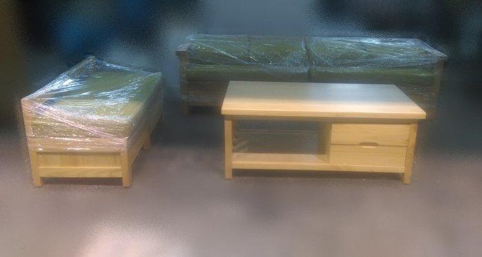 樂居二手傢俱 A0930EJJC 全新實木大茶几 吃飯桌 寫字桌 泡茶桌 收納桌 邊桌 餐桌 辦公桌 全新中古傢俱家電